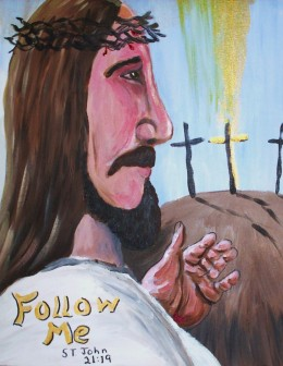 Follow me. for I am the way and the life. the Alpha and the Omega, beginning and the end.