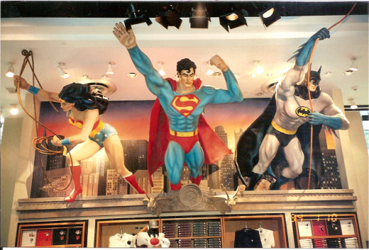 Wonder Woman, Superman and Batman