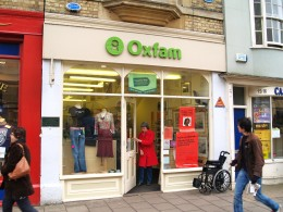 Oxfam is one well known charity that stocks a wide range of fair trade products as well as selling second hand goods.