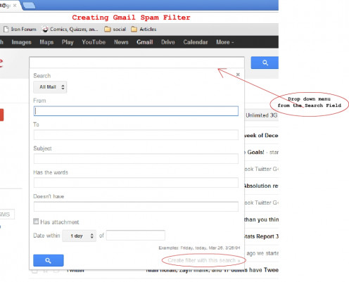 Creating Spam Filter in Gmail