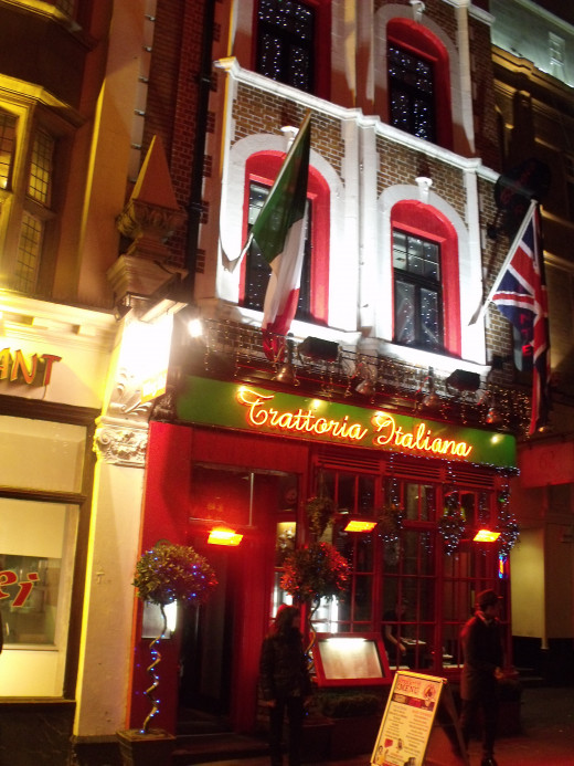 Italian restaurant on Wardour Street
