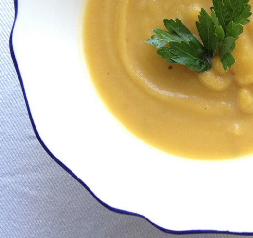 Soup is the perfect low-calorie comfort food.