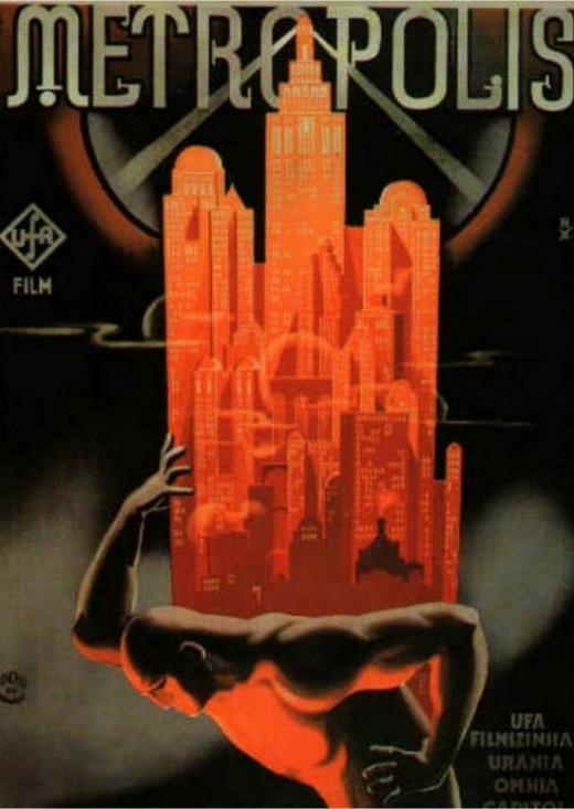 Fritz Lang's 1927 blockbuster film, Metropolis.