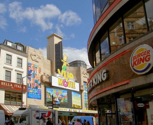 Sharing American culture? American entertainment and fast food options in London.