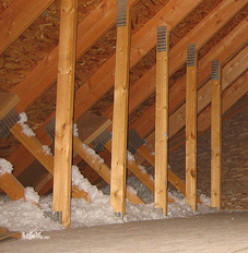 Make sure there is no insulation covering rafter vents.