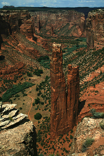 Spider Rock in Arizona, home to world creator, Spider Grandmother