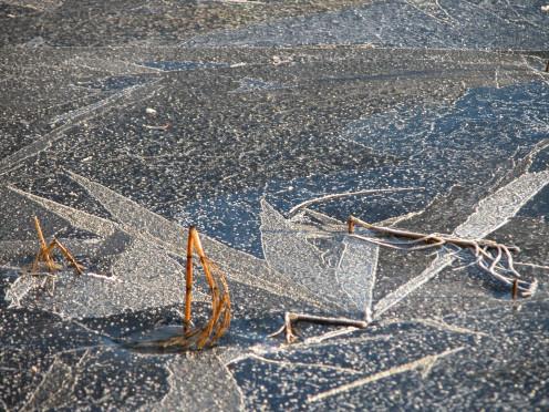 Ice Patterns On Lake