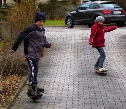 Children taking part in fun childhood pastimes