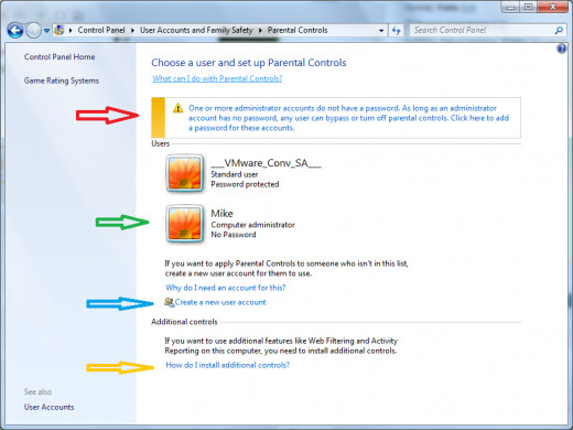Windows 7 Parental Controls Screenshot