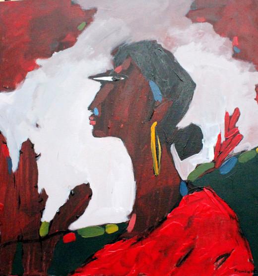 Electra by Pramila; Oil on canvas