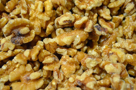 Start with fresh organic walnuts--chop.