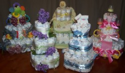 Pictures Of Diaper Cakes