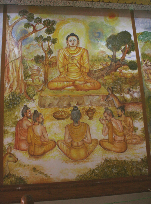 The Buddha giving sermons