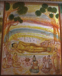 The Buddha on death bed