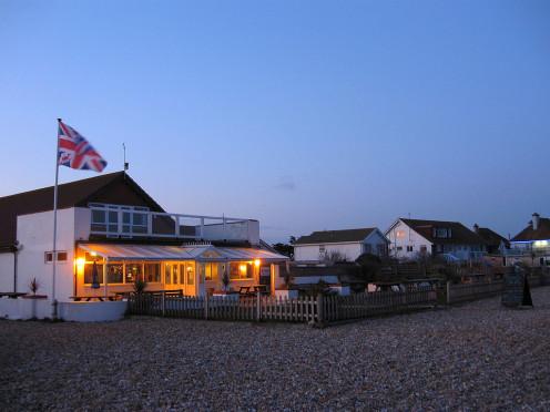 Pevensey Bay Aqua Club, located on the beach near the centre of Pevensey Bay.