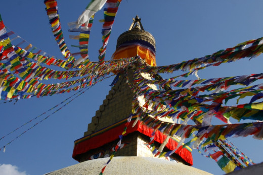 Prayer Flags are important aspects of Buddhism.
