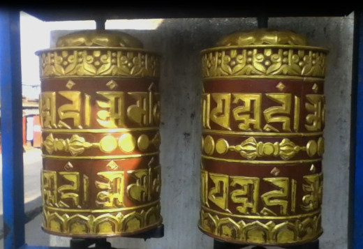 Prayer Wheels are important part of worshiping in Buddhism