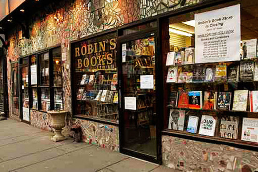Robin's Books in downtown Philadelphia which is closing its doors after 76 years