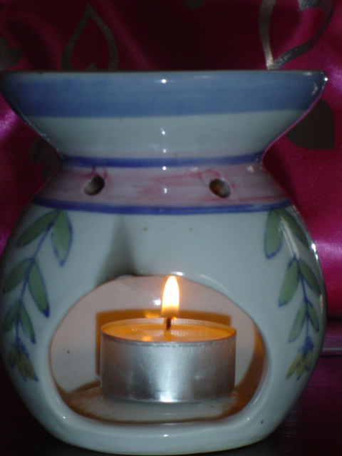 This is one of many types of oil burners available.