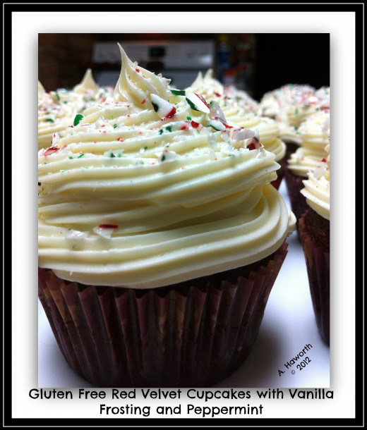 Photo copyright 2012 A. Haworth Gluten Free Red Velvet Cupcakes