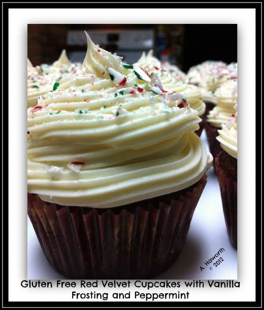 Photo copyright 2012 A. Haworth Gluten Free Red Velvet Cupcakes