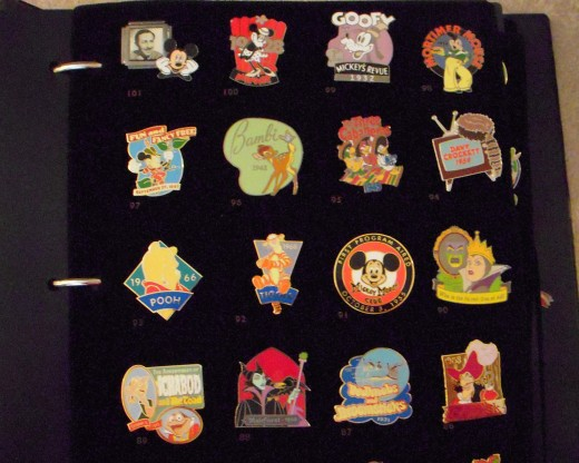 Collectible Disney pins.