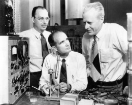 John Bardeen, William Shockley and Walter Brattain at Bell Labs, 1948