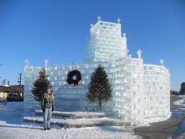 Ice Castle in Eagle River, WI