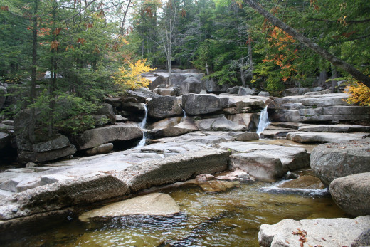 Waterfall along the Kancamangis Scenic Highway in New Hampshire