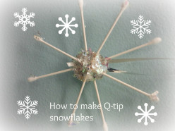 How To Make A Q-Tip Snowflake