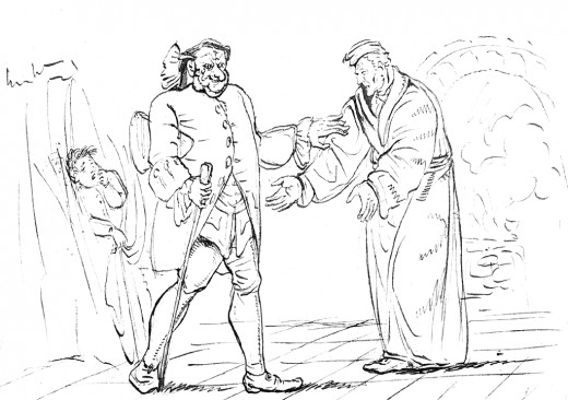 "Hoffmann's illustration for ""Der Sandmann"""