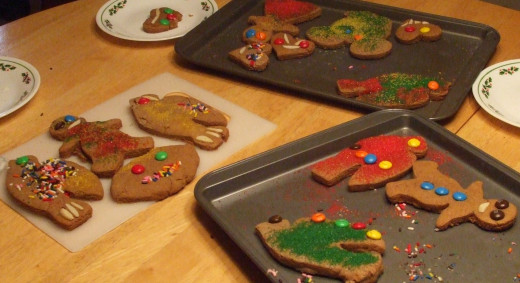 Nothing is as special as a child's touch in decorating a Christmas cookie.