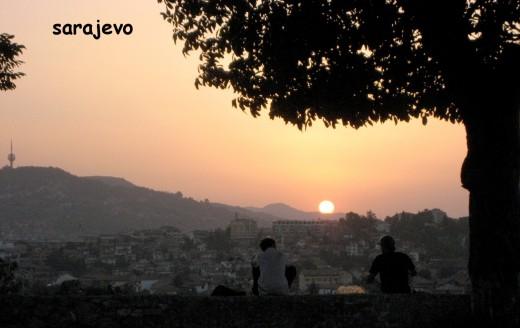 Sunset over Sarajevo