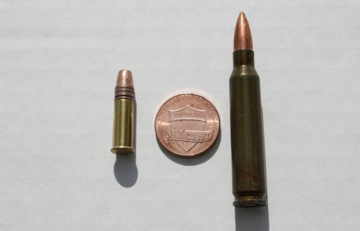 .22LR on the left; .223 on the right