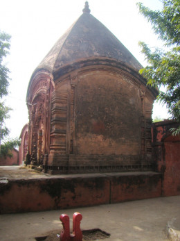 Shiva temple inside the temple complex housing the temple of Goddess Mauliksha
