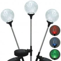 Garden Globes 3-Piece Solar LED Stake Light Set