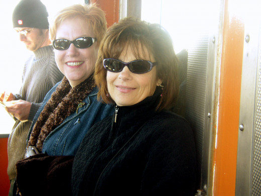 Anna and my sis Deb in New Jersey