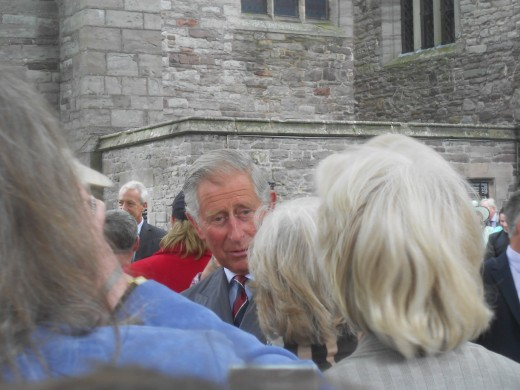 Prince Charles at Brecon Cathedral, Wales.
