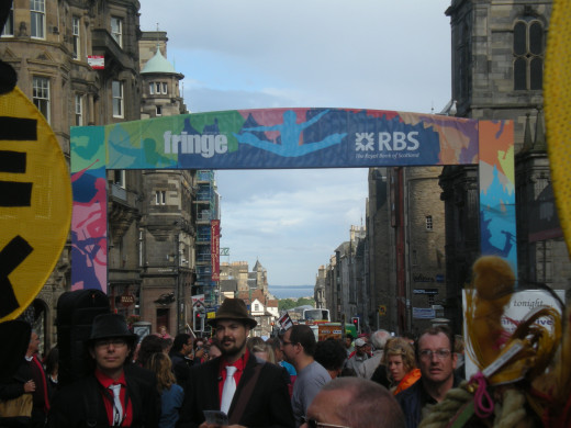 Royal Mile during Edinburgh's Fringe festival