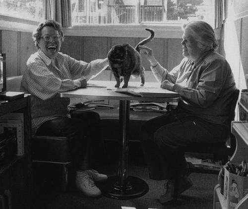 Phyllis Lyon and Del Martin at their apartment in San Francisco.