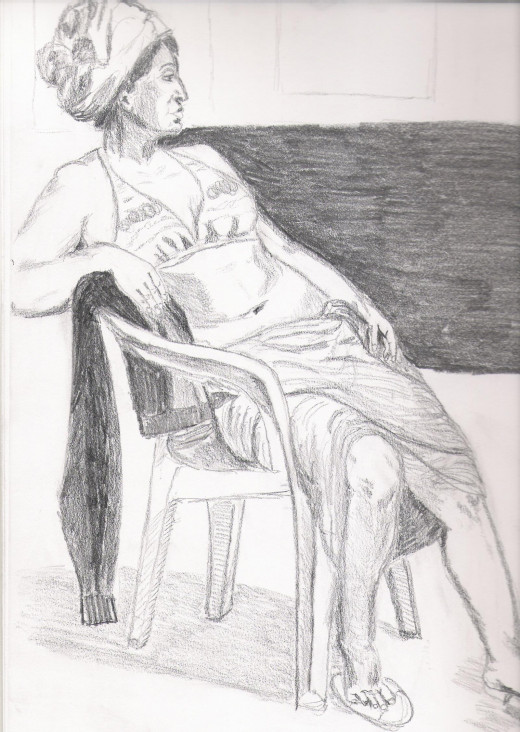 Pencil on Canson paper 9x12, 2012