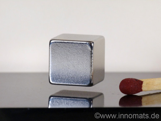 Superconducting permanent magnets can be made to levitate over a magnetic mirror like aluminum.