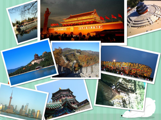 Tiananmen , Temple of Heaven, Summer Palace, Great Wall of China , Birds Nest , Ming Tomb