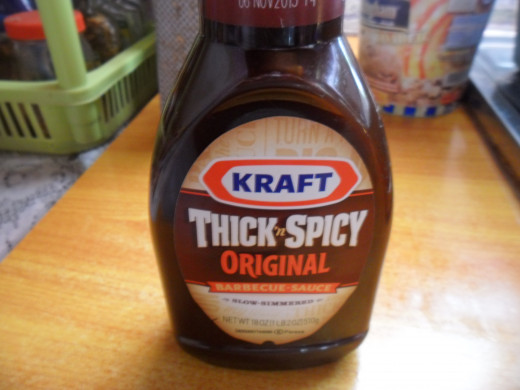 My bbq sauce, I love Kraft products