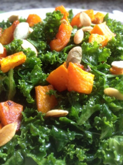 Massaged Kale Salad with Butternut Squash