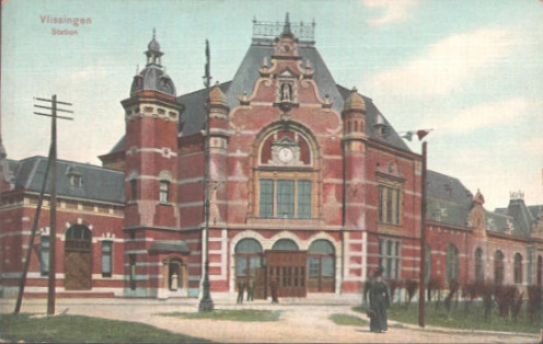 Vlissingen Station in about 1900