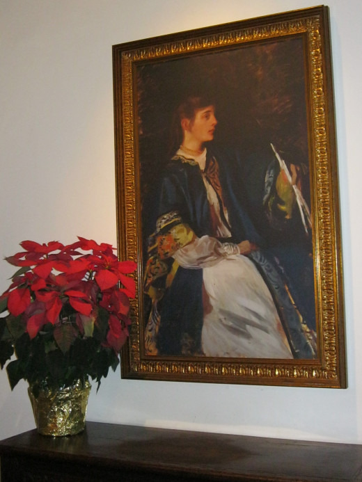 Photo of Isabella that hangs in the library at Arizona Inn