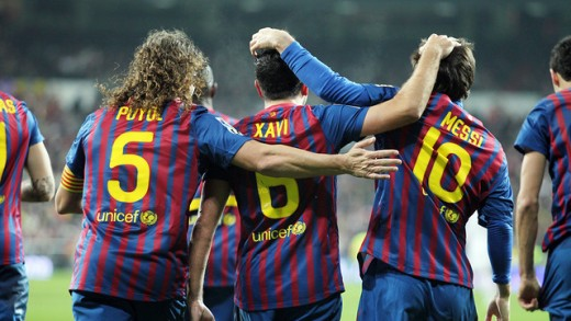 Puyol, Xavi and Messi