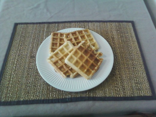 Here are the waffles that the medium batter produces.