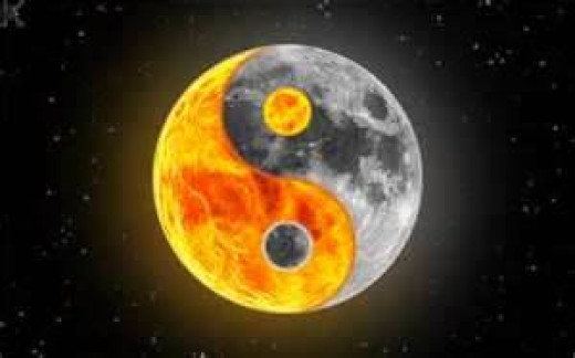 Sun and Moon as Yin and Yang symbol. From: /wallpapers-sky.com
